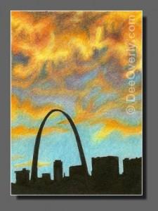 Silhouette Sky #82 St Louis