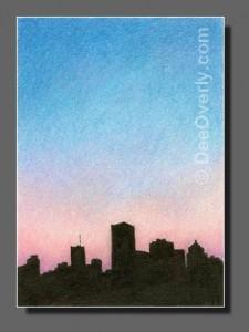 Silhouette Sky #84 Detroit