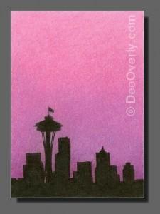 Silhouette Sky #85 Seattle